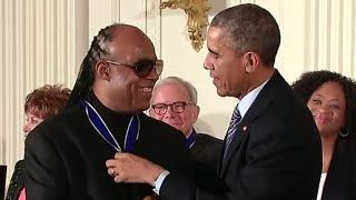 Stevie Wonder Presented Medal Of Freedom
