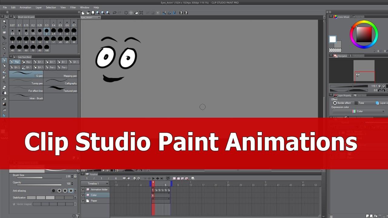 clip studio animation