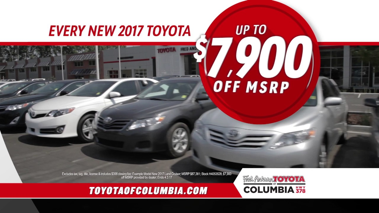 Fred Anderson Toyota Of Columbia 1 For Everyone Youtube