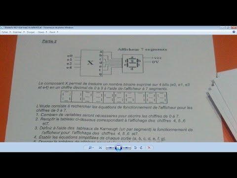 PART 1 (l'afficheur 7 segment) correction TP EXAMEN DE FIN DE FORMATION