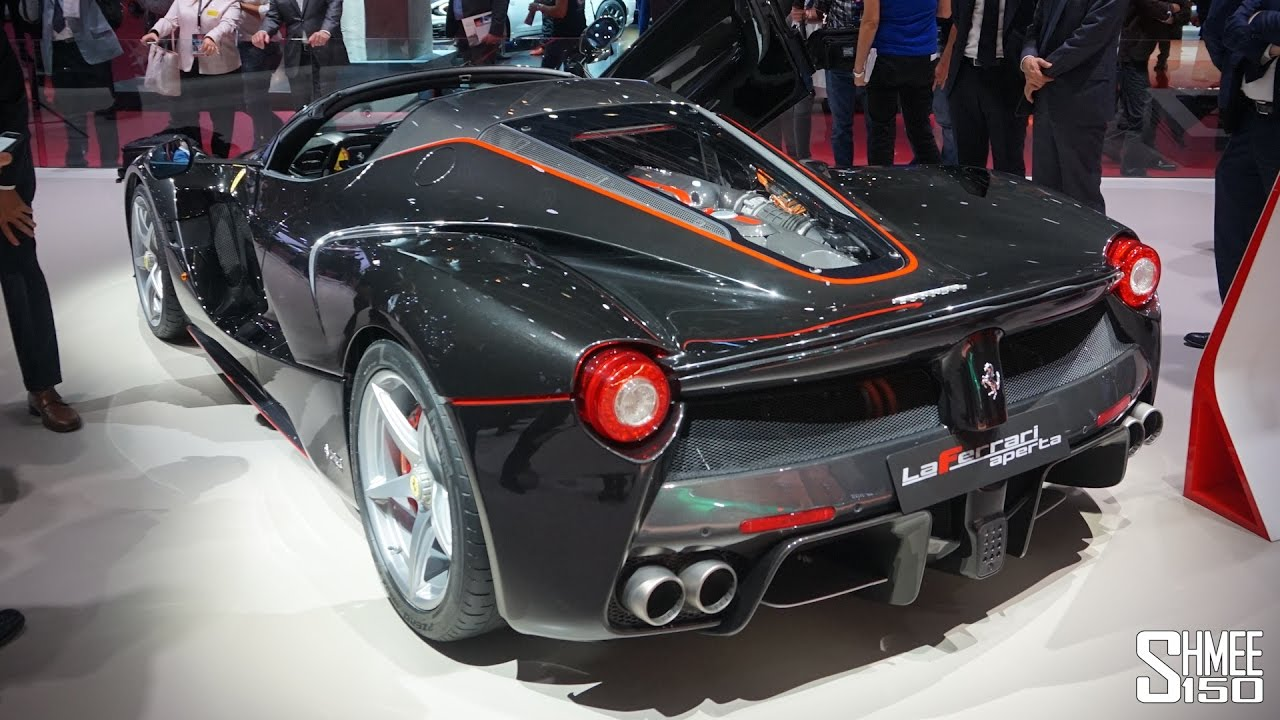 First Look Ferrari Laferrari Aperta Gtc4lusso T 70th Anniversary Youtube
