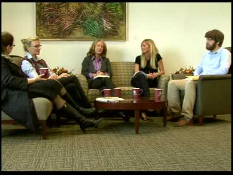 Colgate's Living Writers:  Elizabeth Strout and panel of faculty and students.