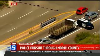 San Diego High Speed Chase October 2017 Best Car Chase