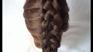 Французская коса из 5 прядей French braid five strands