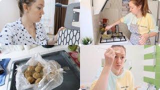 VLOG будни мамы будут дети оочень вкусные котлеты в духовке супер маска