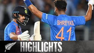 Iyer and Rahul Show Class In Series Opener | HIGHLIGHTS | 1st T20 - BLACKCAPS v India, 2020