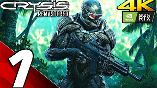 CRYSIS REMASTERED Gameplay Walkthrough PART 1 (4K 60FPS) PC/PS5/Series X (Ray Tracing)