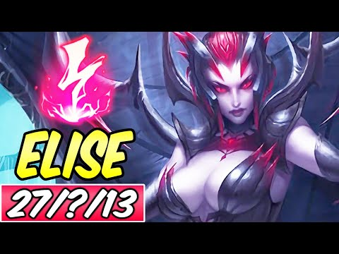S+ HOW TO PLAY ELISE JUNGLE GUIDE | 61k DMG | Build & Runes | Diamond Commentary | League of Legends