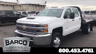 Chevrolet Silverado 3500 Flatbed | Crew Cab 4x4 with Gooseneck | Barco Rental Fleet Trucks