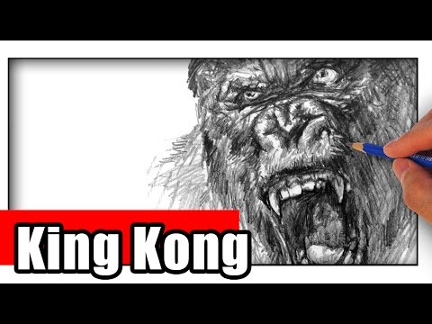 How to Draw King Kong with Pencil Step by Step