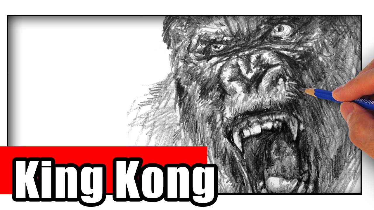 How To Draw King Kong With Pencil Step By Step Youtube