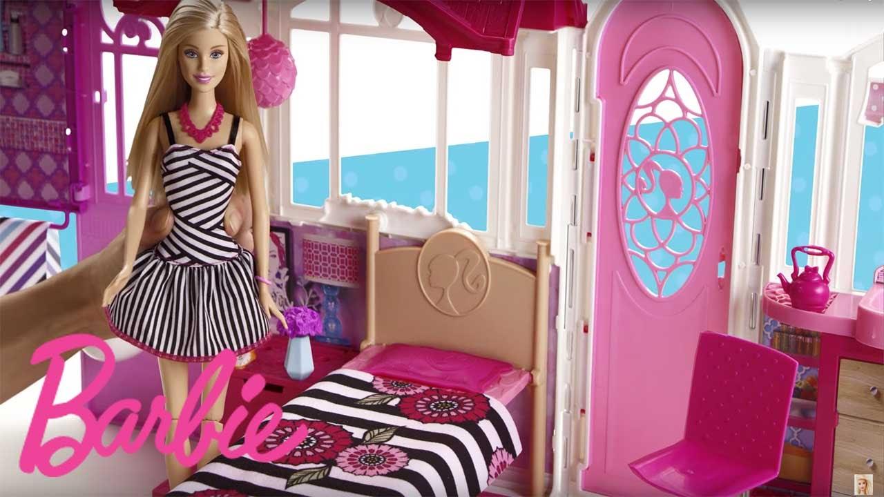 Barbie Casa de vacaciones porttil  YouTube