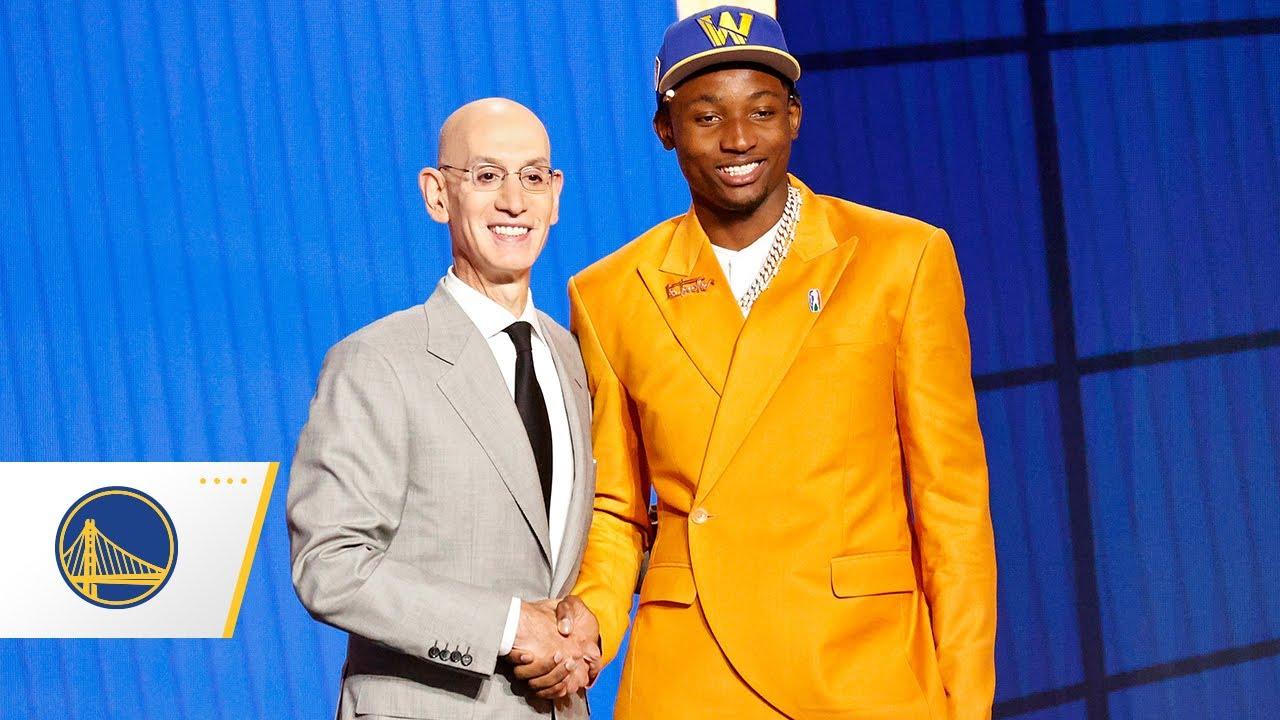 Golden State Warriors Select Jonathan Kuminga in 2021 NBA Draft! - YouTube
