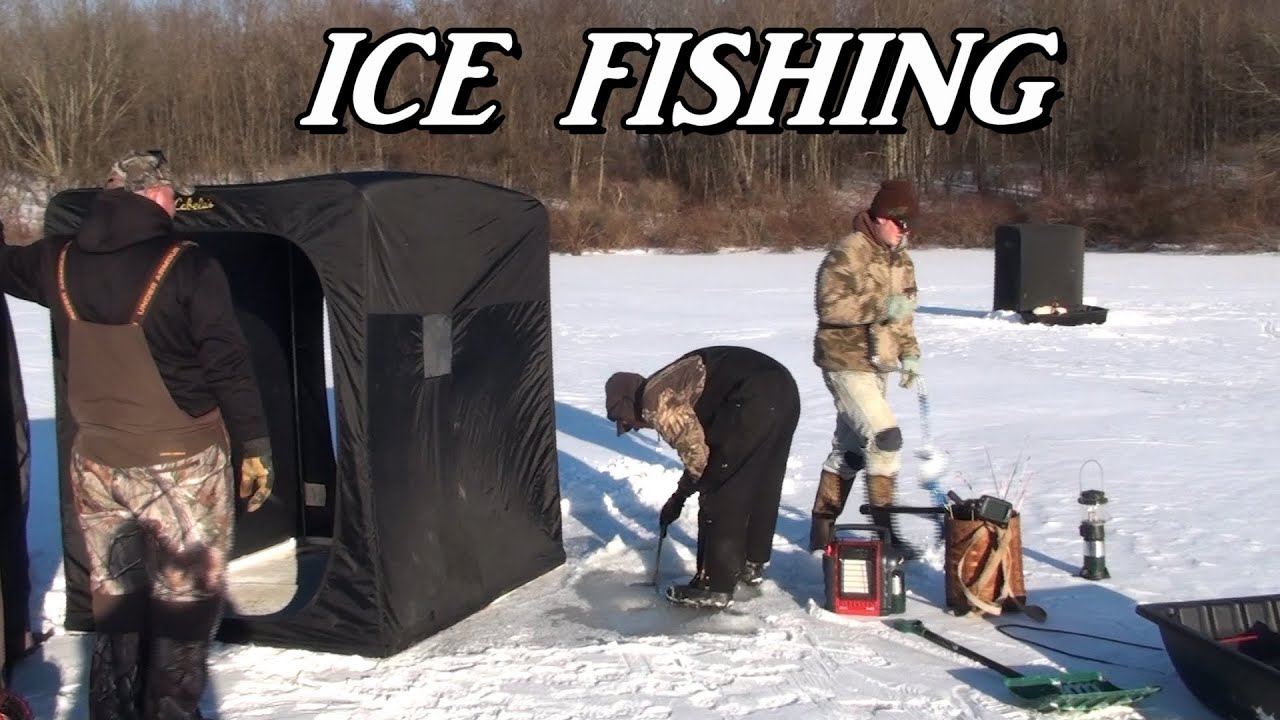 ice fishing 2014 wilhelm kahle lake youtube