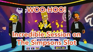 WOO-HOO!  Incredible Session on The Simpsons Slot