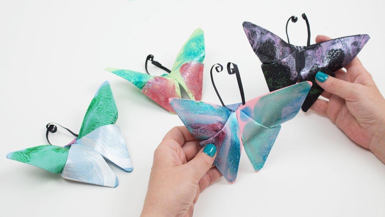 Manualidades Vistosas.Como Crear Mariposas Con Cartulinas Manualidades