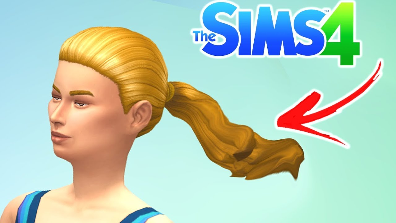 Hair Animation Mod - test 1 - The Sims 4 (WIP)