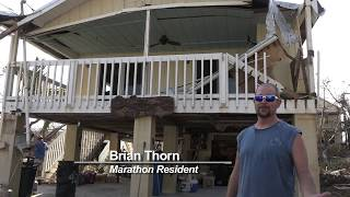 Local Marathon Resident Brian Thorn gives TV88 a tour of his home after Hurricane Irma