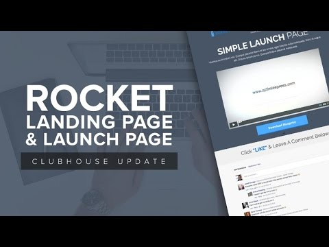OptimizePress Club: Rocket - Launch Page Template - YouTube