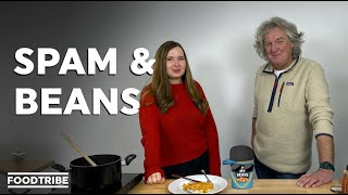 James May teaches Rachael to cook the perfect Spam and beans