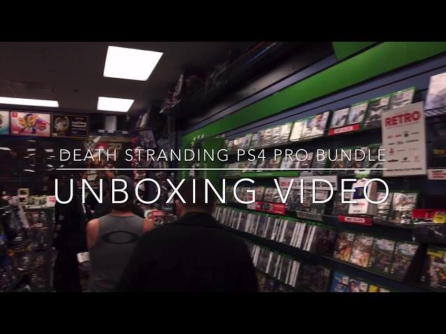 Death Stranding PS4 Pro Bundle: Unboxing Video