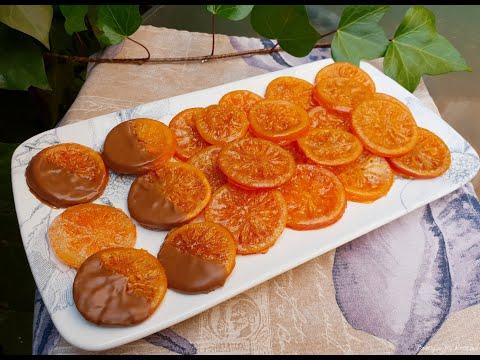Карамелизирани портокалови шайби
