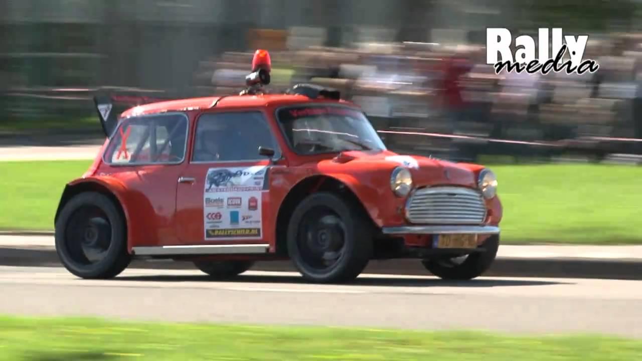 Very fast rally Mini Cooper - Amsterdam Rallysprint 2010 - YouTube