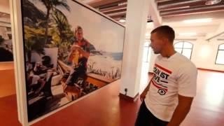 """Lukas Podolski präsentiert """" One Night in Rio"""" im Deutschen Sport & Olympia Museum"""
