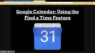 Google Calendar: Using the Find a Time Feature