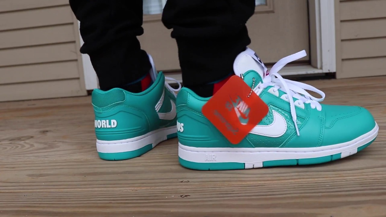 Supreme X Nike Air Force 2 On Foot Look Youtube