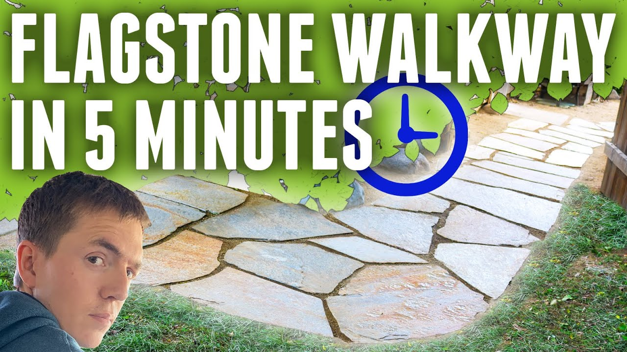 Build A Flagstone Pathway In 5 Minutes Youtube