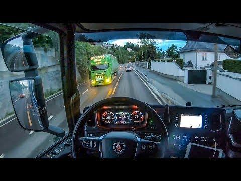 POV Driving Scania S520 - Late night ride through Oslo