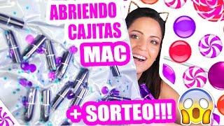 Abriendo Cajitas MAC y SORTEO INTERNACIONAL!!! OMG Cuánto Maquillaje! Sandra Cires Art