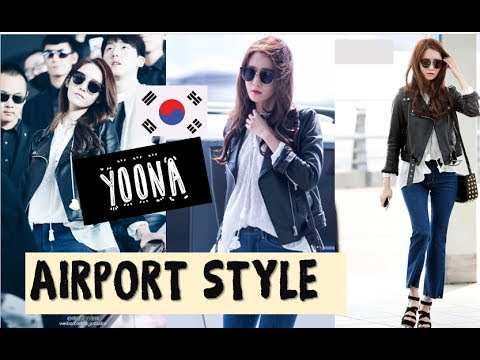 Yoona Snsd 윤아 Best Airport Fashion Girls Generation Moda 소녀
