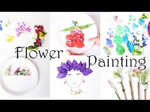 malen mit kindern 6 kreative ideen zum malen und basteln mit echten blumen youtube. Black Bedroom Furniture Sets. Home Design Ideas