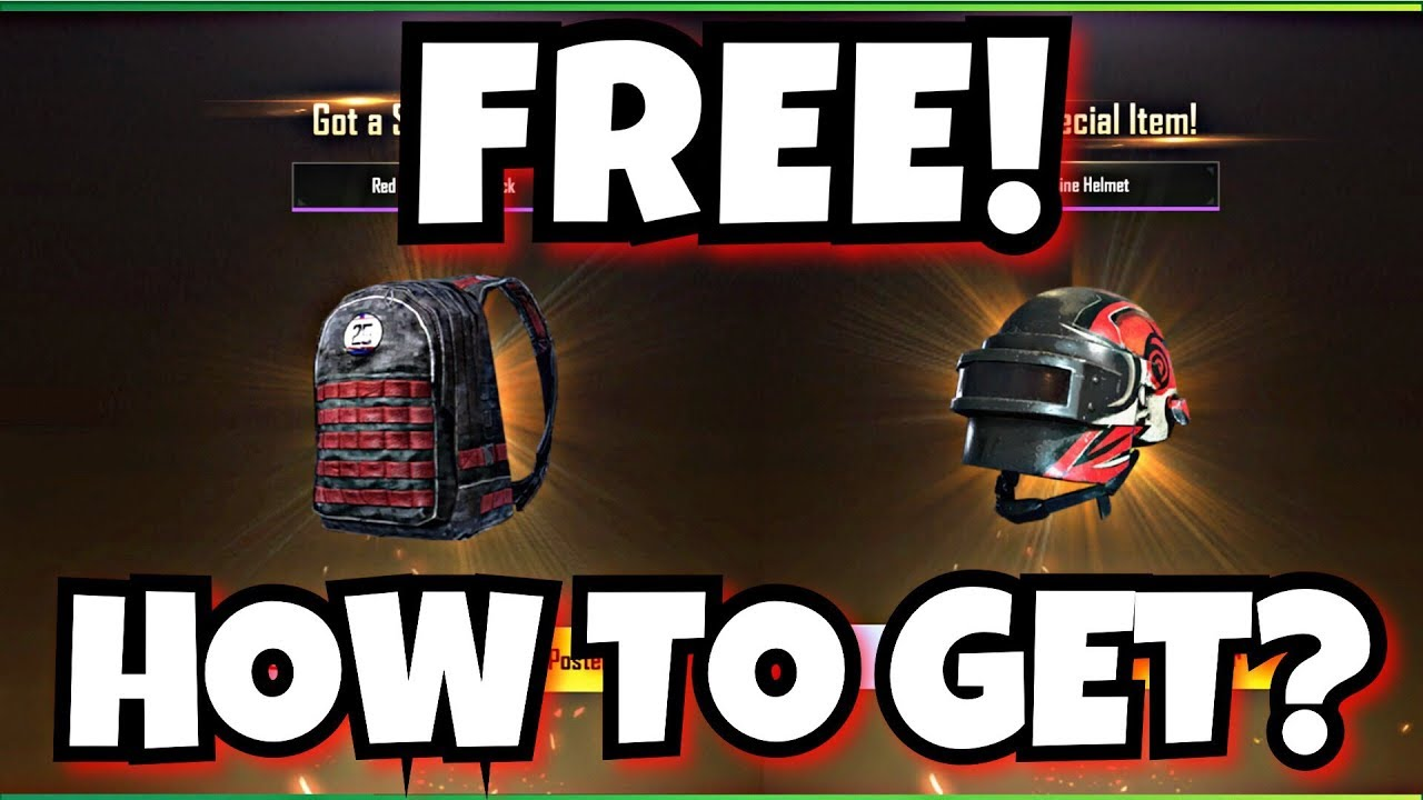 How To Get Backpack And Helmet Skins In Pubg Mobile Youtube