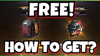 How to get backpack and helmet Skins in PUBG MOBILE
