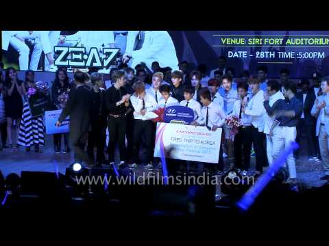 Frozen Crew burst into tears as they receive Gold Prize - K Pop contest