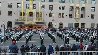 Large Marching Band From Ohio Performs In The 91st Annual Macys Thanksgiving Day Parade