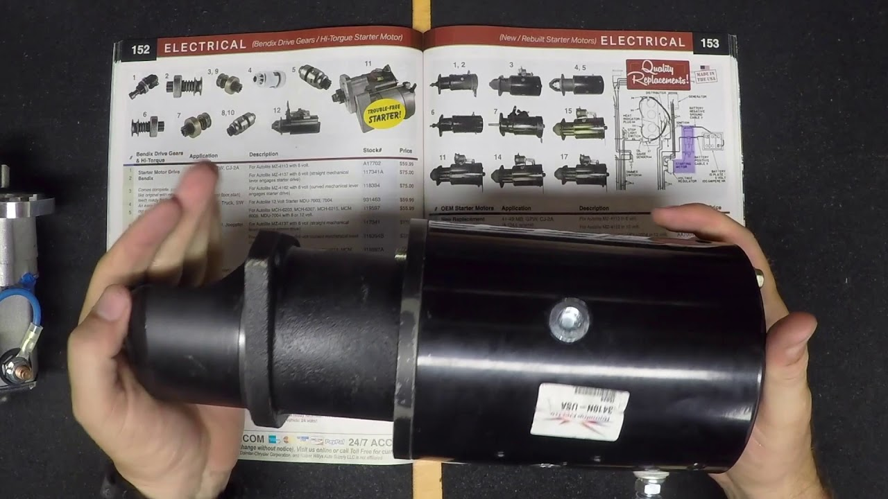 oem starter motors kaiser willys jeep parts [ 1280 x 720 Pixel ]