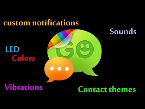 GO SMS PRO Custom Notifications, LED Colors, Vibration, And Contact Themes, How To