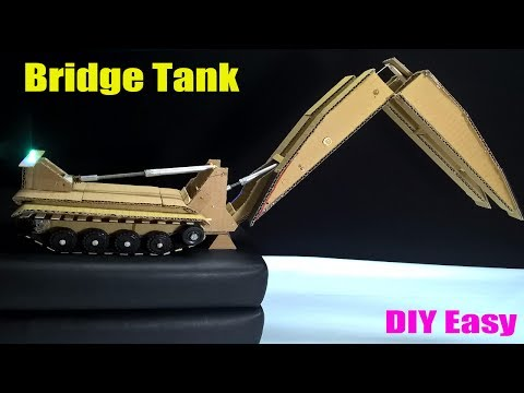 How to make a Tank at home - Remote Control RC Bridge Tank - Tank Launched Bridge (AVLB)