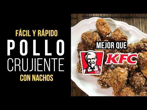 Pollo Crujiente con Nachos al estilo KFC