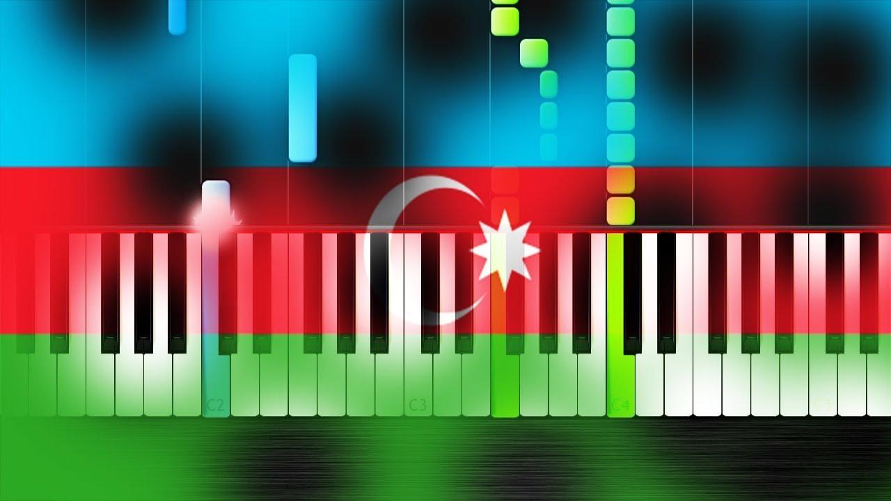 Azerbaycan himni-Piano Tutorial