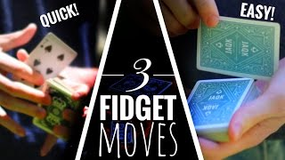 CARDISTRY TUTORIAL BUNDLE // 3 EASY FIDGET MOVES