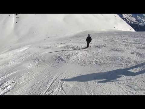 Most Difficult black Run in Auris   Skiing Alpe D'Huez 2019 4k