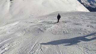 Most Difficult black Run in Auris | Skiing Alpe D'Huez 2019 4k