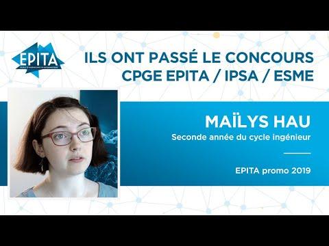 Ils ont passé le Concours CPGE EPITA / ISPA / ESME – Maïlys Hau