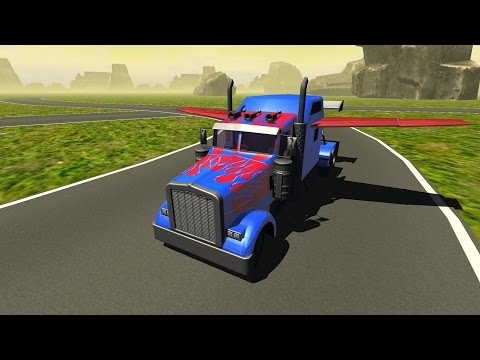 Flying Car : Transformer Truck- GamePlay Trailer Android/Ios- 1080p HD