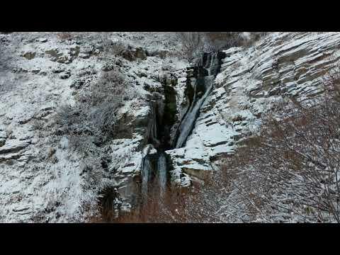 Snowy Waterfall Zen